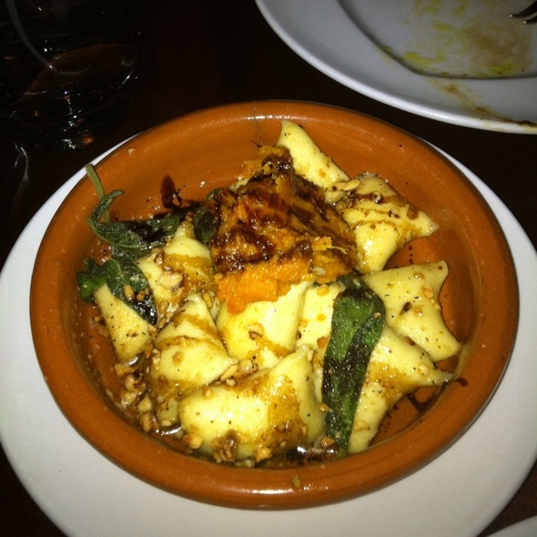 Pumpkin Gnocchi With Red Pepper Sauce @ Nia Restaurant