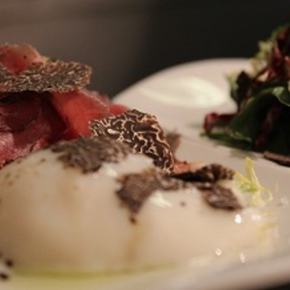 Lamb Prosciutto with Egg & Black Truffle @ North Fork Table & Inn