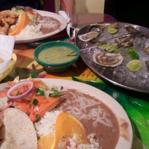 Fish Tacos, Rice, Beans @ Mariscos Playa Hermosa