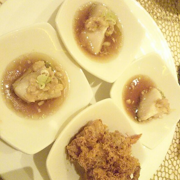 Steamed Gindara And Floss Soka @ Table8 Hotel Mulia