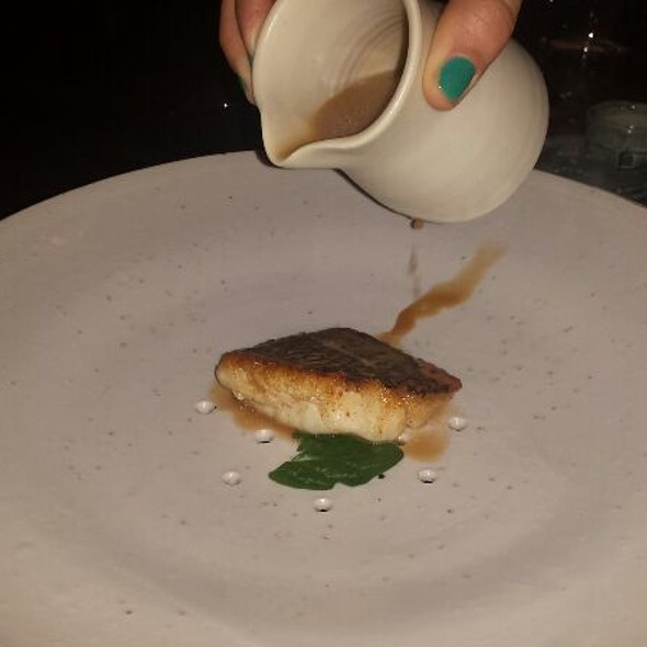Seared Cod With A Seafood Lobster Emulsion @ Michael Mina