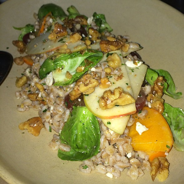 Farro And Brussels Sprouts Leaf Salad