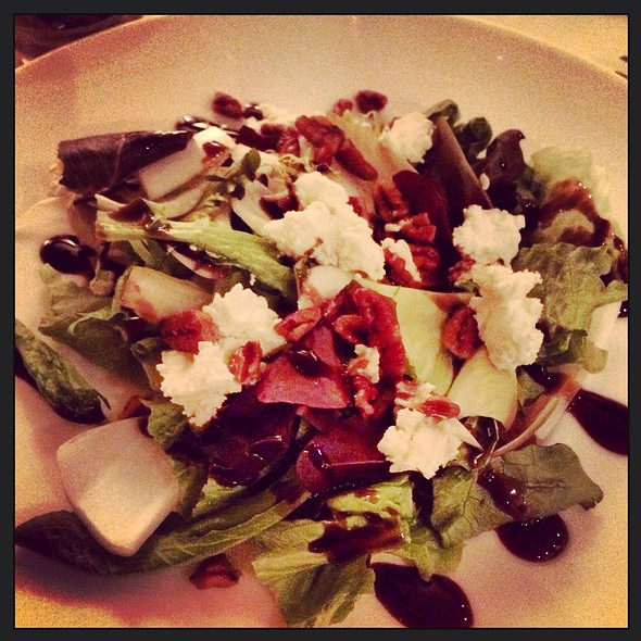 Slow Roasted Beet Salad Goat Cheese Pecans At Alfa Bar Dining Room