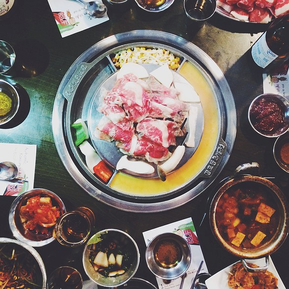 thinly sliced brisket @ Kang Ho Dong Baekjeong