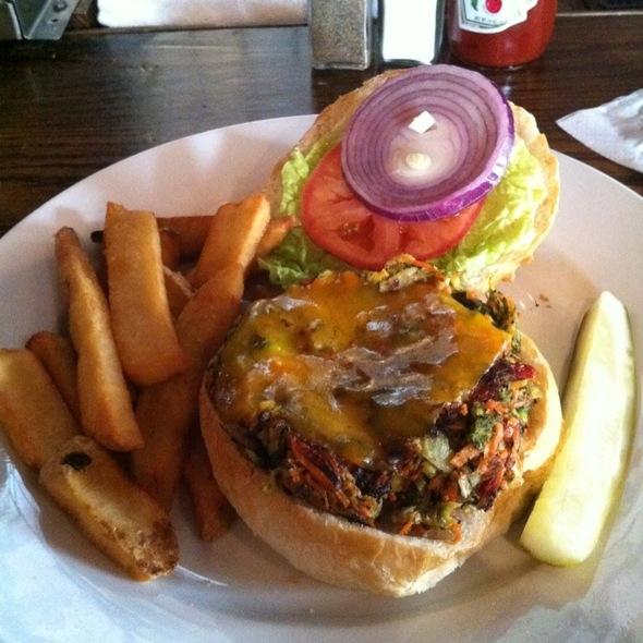 Veggie Burger @ National Mechanics Bar & Restaurant Old City Philadelphia
