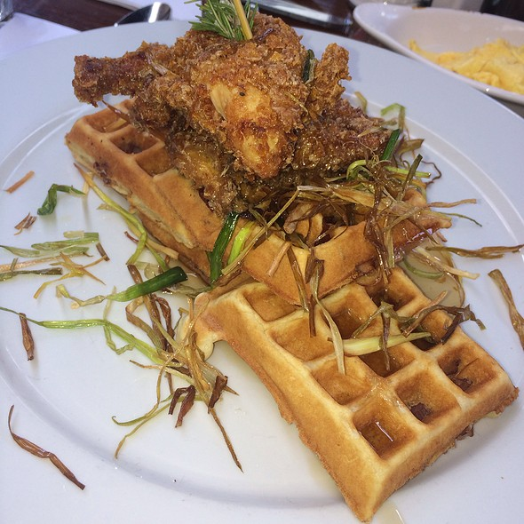 Sage Fried Chicken And Waffles Tower