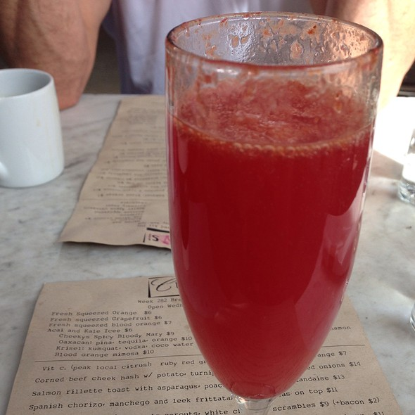 Blood Orange Mimosa @ Cheeky's