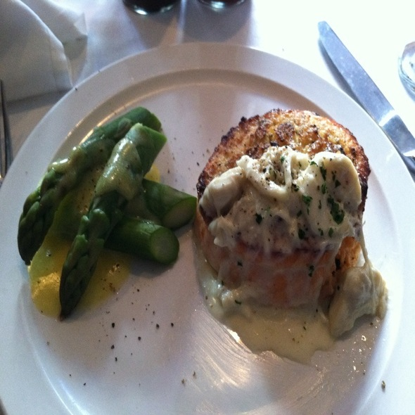 Salmon Stuffed With Crab Meat  - Frankie & Johnnie's Steakhouse - Rye, Rye, NY