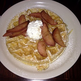Belgian Waffle With Spiced Apples