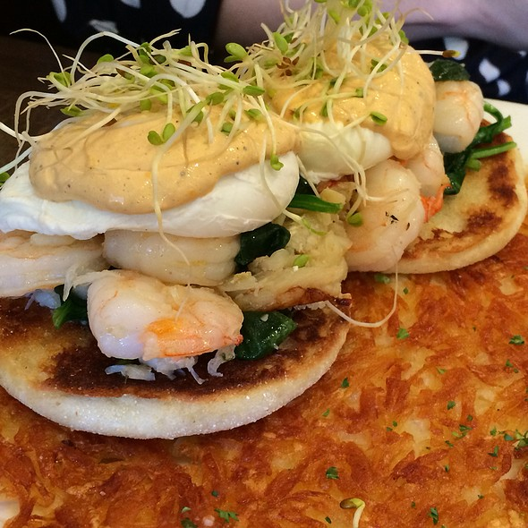 Seafood Eggs Benedict at Griddle Fresh