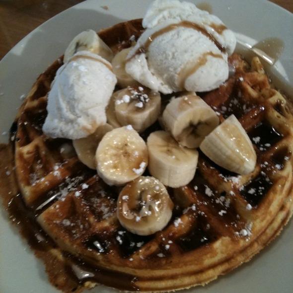 Banana Foster Waffles @ Waffle Shop