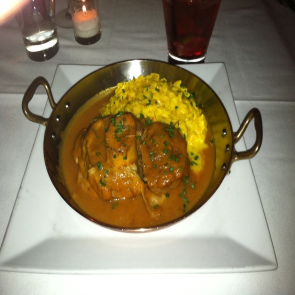 Saffron Risotto with Osso Buco - Umbria Prime, Boston, MA