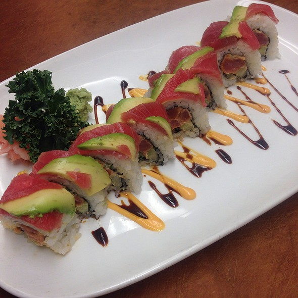 red dragon roll - Grey Gables Inn, Charlevoix, MI