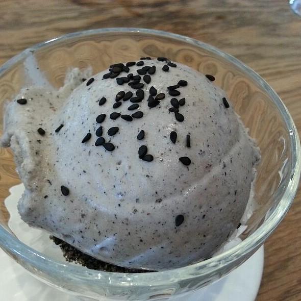 Black Sesame Icecream @ Din Tai Fung Restaurant