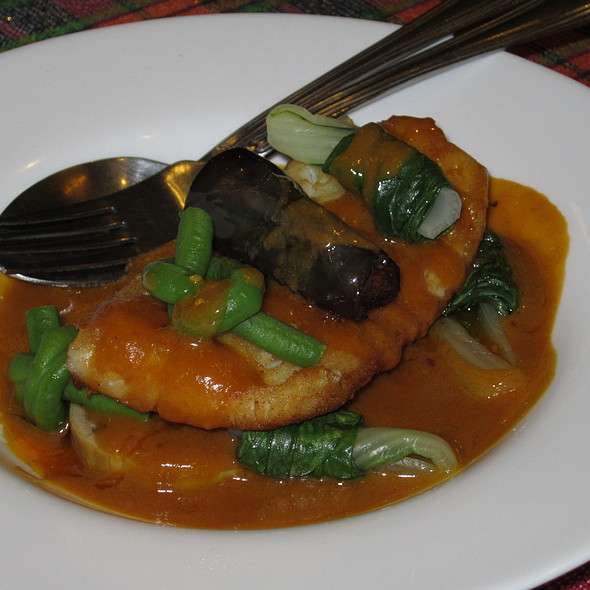 Fish Fillet with Kare-Kare Sauce