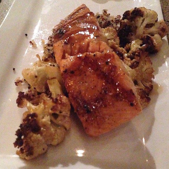 Bourbon Glazed Salmon With Roasted Cauliflower - 5th and Wine, Scottsdale, AZ