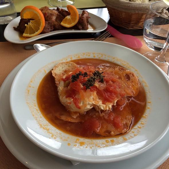 Entrecosto De Porco Com Açorda De Tomate @ Pousada do Torrao - Vale do Gaio Hotel