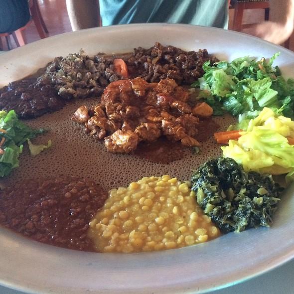 Meat, Veggie, & Chicken Combo @ Asmara Eritrean & Ethiopian Restaurant