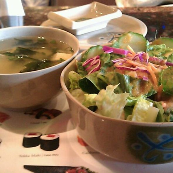 Ginger Salad And Miso Soup @ Fishbone's