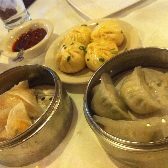 Dim Sum - Pork Bun (Not Bbq), Shrimp & Scallop?, Shrimp & Green Onion