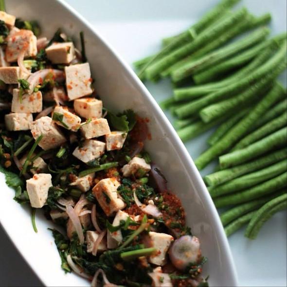 Laab (Tofu Salad W Chili & Fresh Herbs) @ The Mistress Of Spices (Chez Moi)