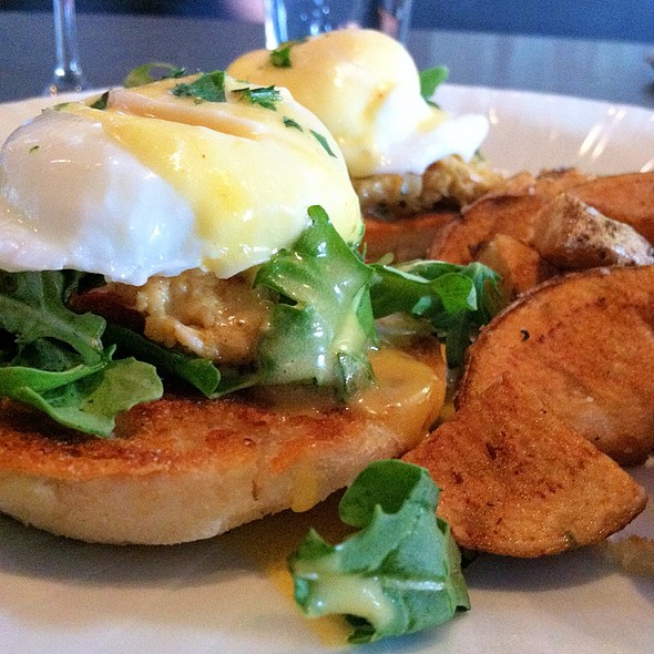 Crabcake Eggs Benedict - Louie's Wine Dive - Kansas City, Kansas City, MO