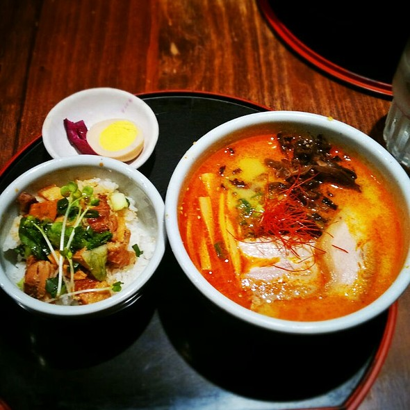 Kara Miso Ramen with Simmered Pork Bowl Combo