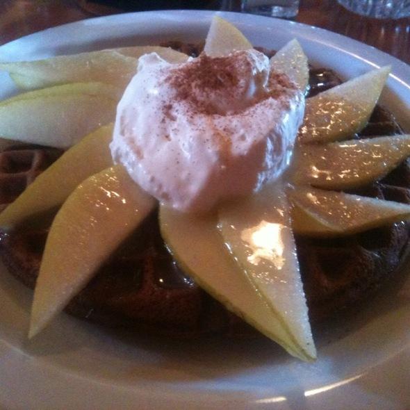 Gingerbread Waffles  @ Lazy Susan Cafe