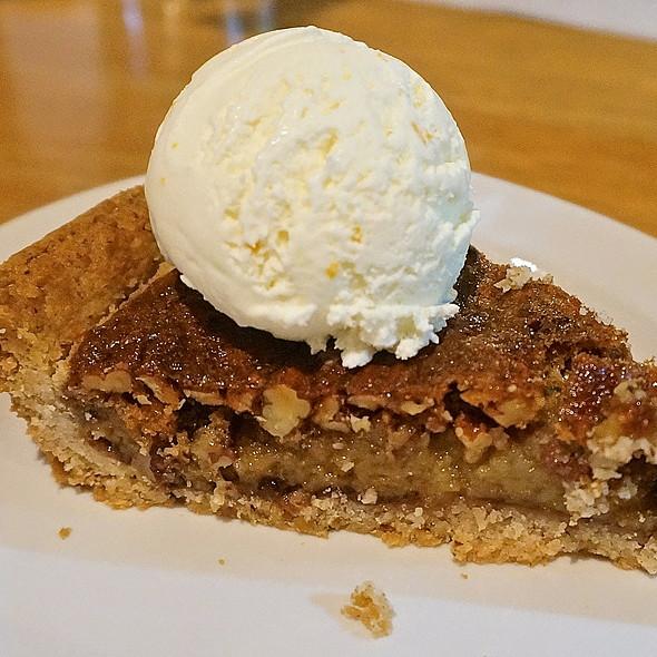 Fig and pecan pie, cream cheese citrus zest ice cream