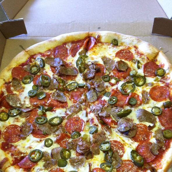 Pepperoni, Sausage And Jalapeno Pizza @ Brooklyn Joe's Pizza Pasta & Grill