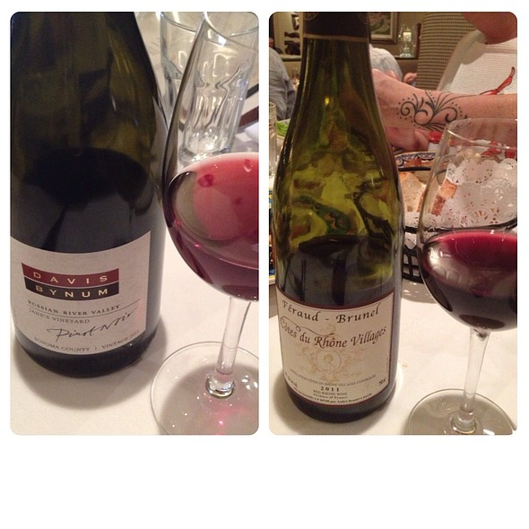 Wines With Dinner - Alioto's, San Francisco, CA