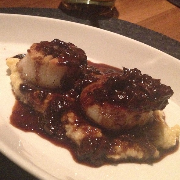 Scallops With Wine Reduction And Mushroom - The Barrymore - Inside Royal Resort Las Vegas, Las Vegas, NV