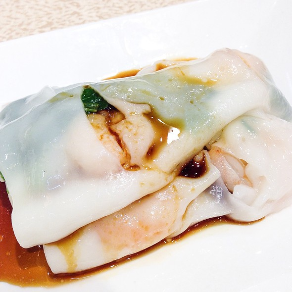 Steamed Rice Rolls With Shrimp And Parsley @ Dragon Boat Fusion Cuisine