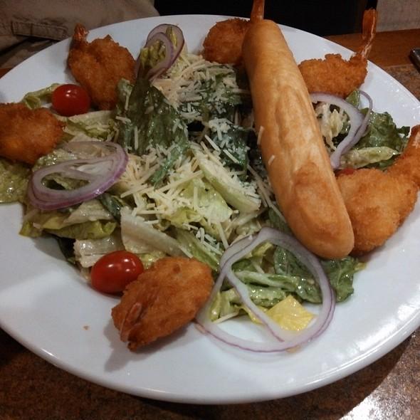 Caesar Salad (add shrimp) @ Ole Piper Inn