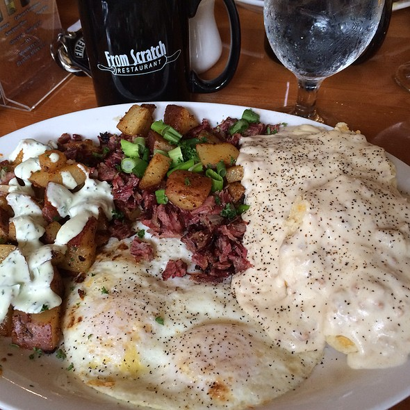 Biscuits, Sausage Gravy, Corned Beef Hash & Eggs @ From Scratch