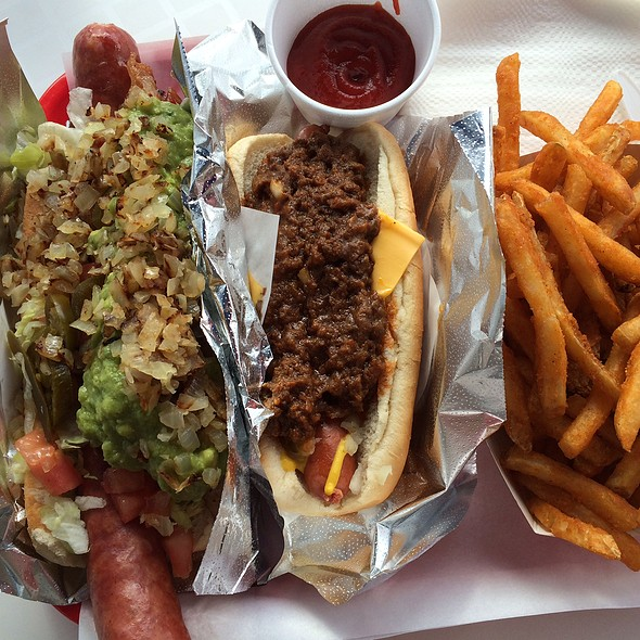 Hot Dogs And Fries @ Pinks Hot Dogs