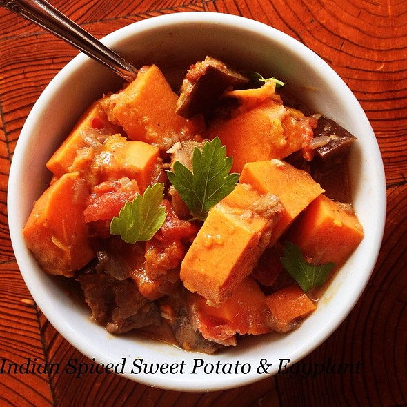 Indian Spiced Sweet Potato & Eggplant