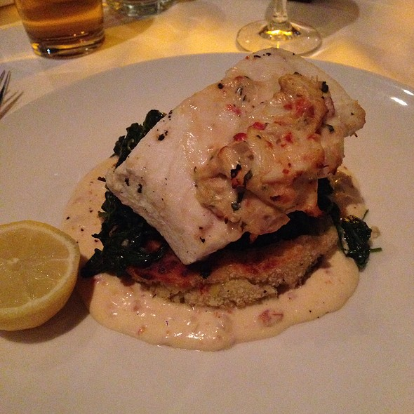 Halibut With Potato Cake And Jumbo Lump Crab - Dressler's Restaurant - Metropolitan (Midtown), Charlotte, NC
