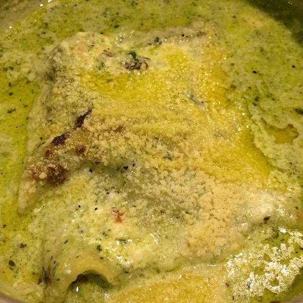Lasagne With Buffalo Ricotta And Pesto Sauce