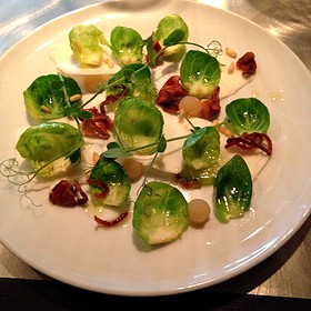 Local Goat Cheese, Brussel Sprouts, Deliciousness
