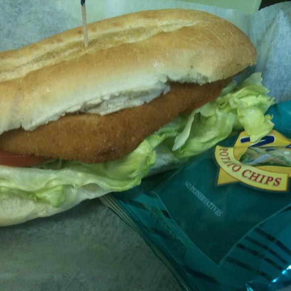 Fried Flounder Sandwich @ KrisCroix's family restaurant