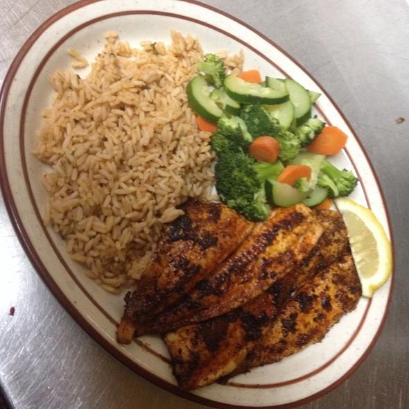 Blackened Flounder @ KrisCroix's family restaurant