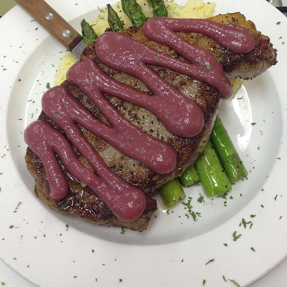Ribeye With Cabernet Pear Reduction @ The Legend Classic Irvington Cafe