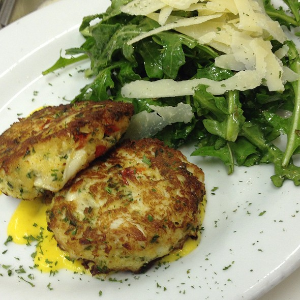 Crab Cakes With A Spicy Mango Coulis @ The Legend Classic Irvington Cafe