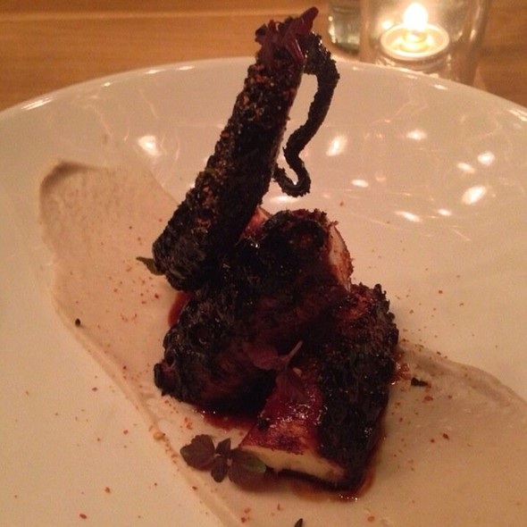Octopus With Sunflower Seed And Shiso @ Pearl & Ash