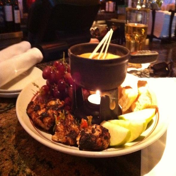 Redstone american grill jerk chicken fondue foodspotting for Redstone grill