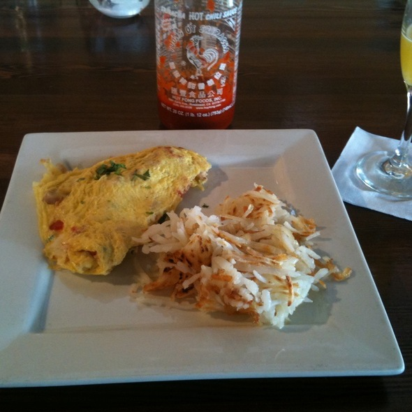 Chef's Omlette With Sriracha And A Mimosa @ Hula's Modern Tiki