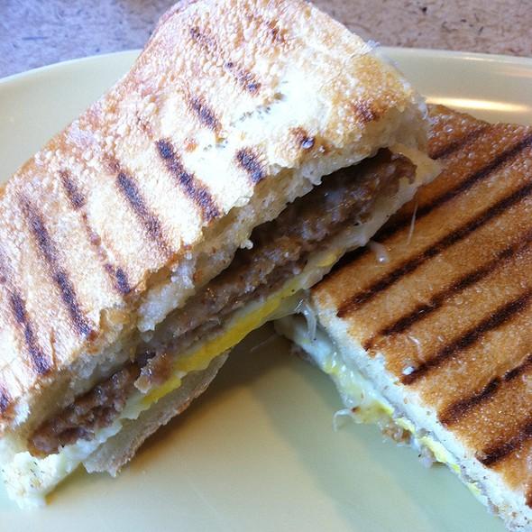 Sausage, Egg, And Cheese On Ciabatta @ Panera Bread