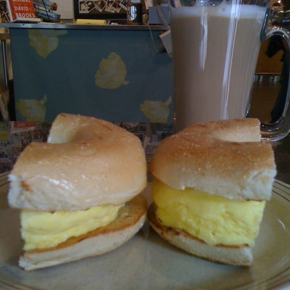 Egg And Cheese Bagel @ Crossroads Cafe