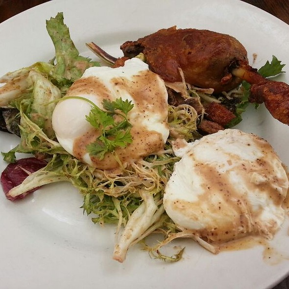 Poached Eggs With Duck Leg Confit @ Foreign Cinema
